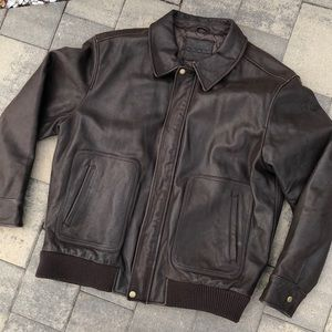 Other - 🔥Cherokee Brown Bomber style Leather Jacket 8/10
